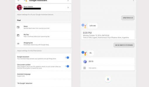 گوگل اسیستنت در گوشی